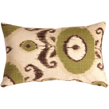 Pillow Decor - Bold Green Ikat 12x20 Throw Pillow - $59.95