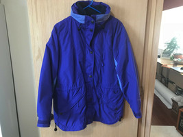 HEAD WOMEN'S SKI JACKET SIZE SMALL BLUE HOOD ZIP IN LINING - $14.50