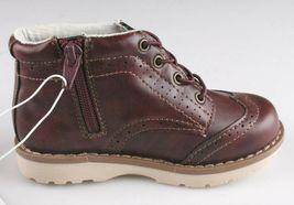 OshKosh B'Gosh Toddler Burgundy Brayan Wingtip Fashion Boots Shoes NEW image 5