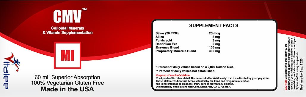 CMV-Multi Purpose Colloidal Ionic Minerals & Vitamin Supplement (1 bottle 60 ml) image 2