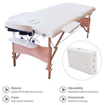 Massage Table Adjustable SPA Bed Beauty Salon Facial Tattoo w/Carry Case... - $122.65