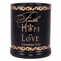 Elanze Designs Faith Hope Love 1 Corinthians 13:13 Ceramic Stoneware Ele... - $24.20