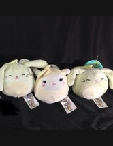 "Squishmallows 3.5"" Clip On Keychain Mint Bunnies & Lamb (Set Of 3) Easter - $16.48"