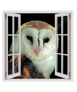 CANVAS (Rolled) Night Owl Fake 3D Window Oil Paint Wall Art Pictures Pai... - €16,78 EUR+