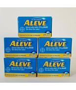 Aleve Pain Reliever Fever Reducer Capsules Naproxen Sodium NSAID 7/23 Lo... - $27.08
