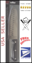 """!New! 7"""" Santoku Chef's Knife Stainless Steel Kitchen Chef Home (Free-Shipping) - $14.84"""