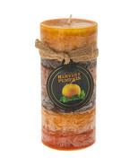 "Harvest Pumpkin layered 6"" pillar candle - $8.00"