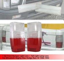 Front Bumper Light Lens + Tail Light Red Clear Lens For Mitsubishi Mighty Max - $28.06