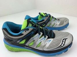 Saucony Zealot ISO 2 Running Men's Shoes Size 8.5 S20314-1 Silver Blue - $49.49