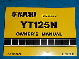 1985 85 Yamaha YT125 Yt 125 Shop Service Repair Manual - $35.72