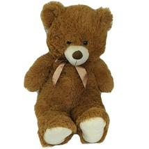 Best Made Toys Brown Bear Plush Stuffed Animal With Bowtie 23 inch Cuddle Soft - $24.74