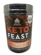 Ancient Nutrition Keto Feast Caffeine Free Protein Maple 25 OZ (1.57) LB... - $23.34