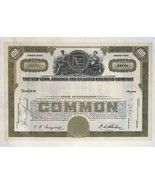 100  share common  Stock Nickel Rate Road certificate 1923' - $9.50