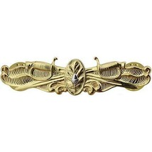 Genuine U.S. Navy Badge: Surface Warfare Medical Gold Breast Badge Pin Insignia - $19.78