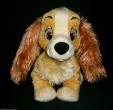 """13"""" BIG DISNEY STORE LADY AND THE TRAMP MOVIE STUFFED ANIMAL PLUSH TOY D... - $16.83"""