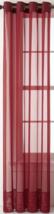 "New Liz Claiborne Lisette Grommet Sheer Curtain Panel 50"" x 63"" Claret Red - $16.05"