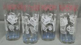 4 Vintage 16oz Clear Water Glasses White Coffee Grinder Tea Pot Lantern ... - $49.99