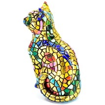 """Barcino Hand Painted Limited Edition Carnival Mosaic 4"""" Cat Kitten Figure 40686 image 2"""