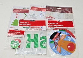 40 piece holiday xmas decoration kit banner, hanging, cutouts, confetti ... - $7.91