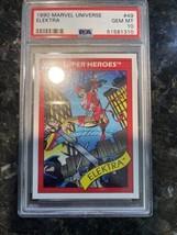 1990 Marvel Universe Elektra 49 Mint PSA 10 Low Pop Rare Impel - $4,945.05