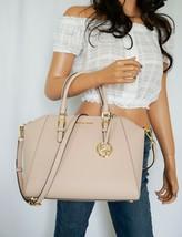 Nwt Michael Kors Ciara Large Top Zip Satchel Leather Shoulder Bag Pink Ballet - $146.52