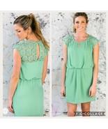 Women's Entro Mint Crochet Dress Medium Fit - $10.00
