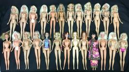 Barbie 25 Girl Doll Nude Vintage Modern Blonde Asian Mattel Big OOAK Play Lot 5 - $59.95