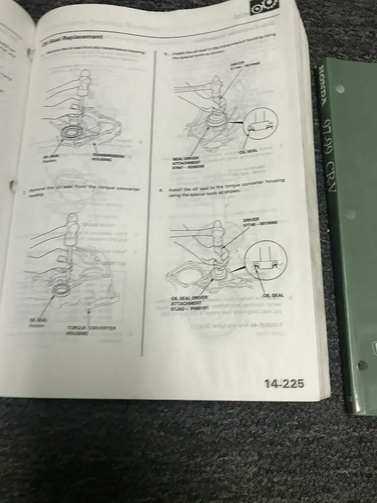 1997 1998 1999 Honda CR-V CRV Service Shop Repair Manual Set W EWD Worn OEM