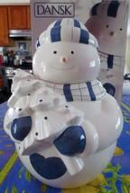 New DANSK BISTRO CHRISTMAS Snowman Cookie Jar Never used, original box - $29.99