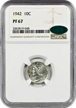 1942 10c NGC/CAC PR 67 - Mercury Dime - $320.10