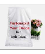 100% Best Custom Bath Towel Personalized Soft Bamboo Fiber Towel For Adults Kids - $15.99 - $60.49