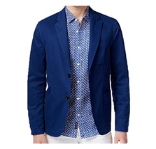 Michael Kors Men's Classic-Fit Garment Dyed Sport Coat, Tidal Blue, Size... - $118.79
