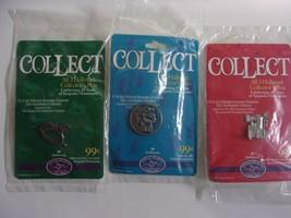 Hallmark Collectors Pins Set of 3 25th Anniversary 1998 Keepsake NIP - $15.47