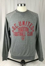 D.C. United Football Club Tradition Adidas 3 Stripe Sweatshirt Grey Medium - $28.05