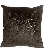 Pillow Decor - Pebbles in Black 18x18 Faux Fur Throw Pillow - $19.95
