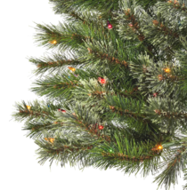 6ft Pre-lit Artificial Christmas Tree Virginia Pine with Multicolored Lights NIB image 2