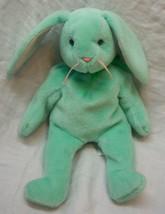 "Ty Beanie Babies Hippity Green Bunny Rabbit 8"" Bean Bag Stuffed Animal Toy 1996 - $14.85"