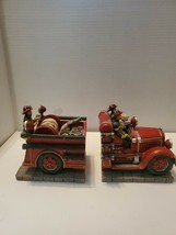 Red Hats Of Bravery Fire Engine Book Ends - $37.61