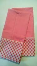 Vintage Cannon Royal Family Pink Pillowcases White Lattice Cotton Candy ... - $7.69