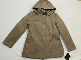 M101 NWT JONES NEW YORK Water Repellant Hooded Desert Sand Coat Jacket W... - $108.85