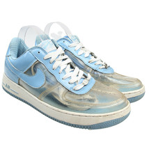 Nike Air Force 1 Premium Invisible Woman Clear Blue White Mens 10.5 - £45.18 GBP