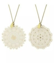 Lenox Heritage Home Decor Collection Two Piece Snowflake Ornament Set New in Box - $34.53