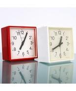 German Alarm Clock Mantel RUHLA SET! BLESSING Top! Retro Red & White Mid... - $89.00