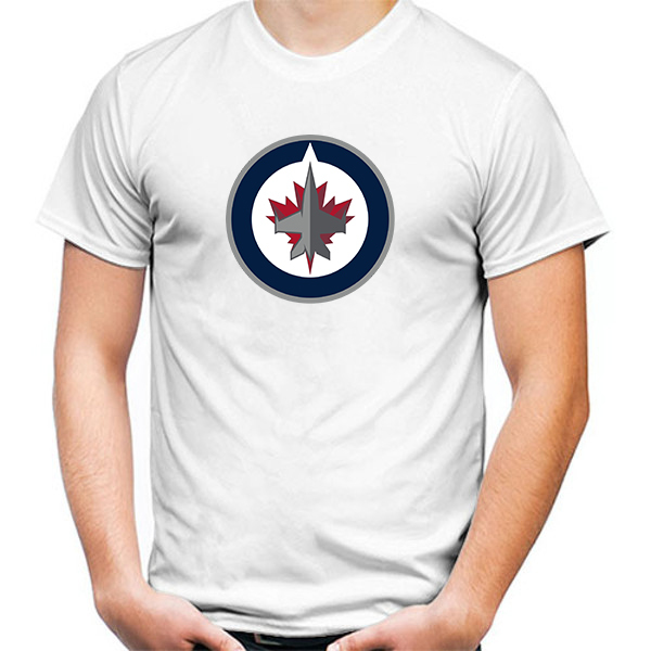 Primary image for Winnipeg Jets Tshirt White Color Short Sleeve Size S-3XL