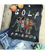 Friends TV Show Golf Friends Ladies T-Shirt Black Cotton S-3XL - $19.75+