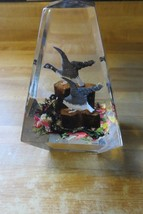 original flying geese souvenir wildlife desk paperweight - $33.25