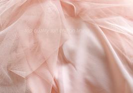 BLUSH High Waist Maxi Tulle Skirt Full Length Blush Wedding Bridesmaid Skirts image 11
