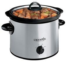 Crock-Pot 3-Quart Manual Slow Cooker Silver - €32,94 EUR