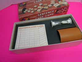 Vintage 1983 Scrabble Brand Sentence Cube Game  Selchow & Righter Complete - $11.95