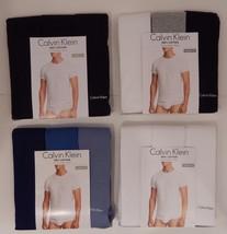 3 Calvin Klein Cotton Black White Blue Gray Size: S M L Xl Crew Neck T-SHIRTS - $31.90